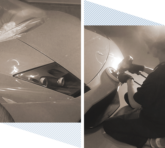 THE DESIRE IS PUT IN ONE PER ONE. A HIGH-QUALITY CAR COATING. 1台1台に思いを込めて。 高品質なカーコーティングを、あなたに。