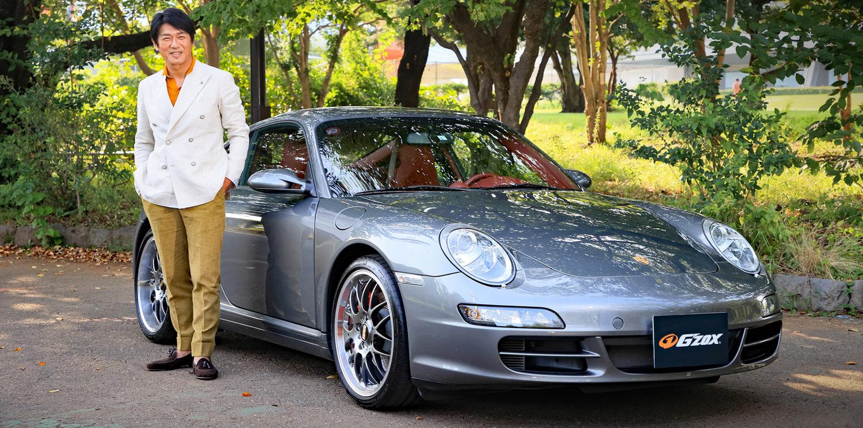 タイアップとして高橋克典さんの車をコーティングしました。